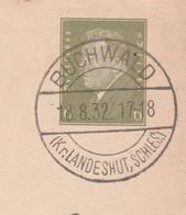Deutsches Reich Karte Mit Tagesstempel Buchenwald 1932 Bukówka Kr Landeshut Schlesien - Briefe U. Dokumente
