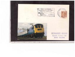 TEM14472  -  BRINDISI 26-1-1981   /   MOSTRA ITINERANTE ENTE NAZIONALE PER L'ENERGIA ELETTRICA - Trains