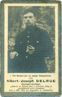 WO1 / WW1 - Doodsprentje Albert Delrue - Rijsel / Diksmuide - Gesneuvelde - Obituary Notices