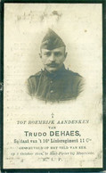 WO1 / WW1 - Doodsprentje Trudo Dehaes - Melveren / Sint-Pieter Bij Moorslede - Gesneuvelde - Obituary Notices