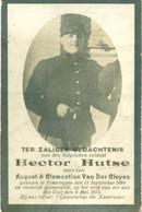 WO1 / WW1 - Doodsprentje Hector Hutse - Erwetegem / - Gesneuvelde - Obituary Notices