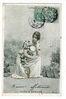 Cléo De Mérode - Opéra - Circulé 1904, Verso De Couleur Bleu - Entertainers