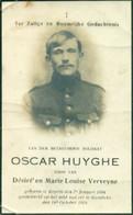 WO1 / WW1 - Doodsprentje Oscar Huyghe - Keiem / Rumbeke - Gesneuvelde - Obituary Notices