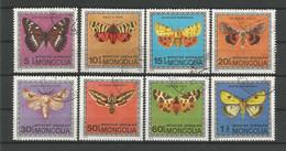 Mongolia 1974 Butterflies Y.T. 695/702 (0) - Mongolia