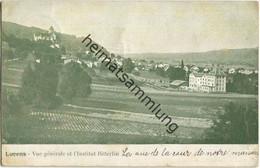 Lucens - Vue Generale Et L Institut Bitterlin - Verlag W.-Jos. Huwiler Lucens - Gel. 1910 - VD Vaud