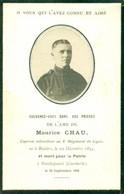 WO1 / WW1 - Doodsprentje Maurice Chau - Roesale / Kaaskerke - Gesneuvelde - Obituary Notices