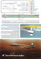 Dépliant 3 Volets De Présentation Du Concorde Provenant Du Salon Aéronautique Du Bourget En 1967 - Otros