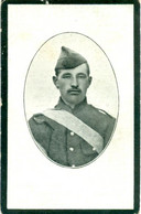 WO1 / WW1 - Doodsprentje Edward Van Goubergen - Waarloos / Veurne - Gesneuvelde - Obituary Notices