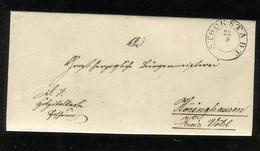 """Thurn Und Taxis / 1861 / Brief K2 """"STOCKSTADT"""" (4349) - Briefe U. Dokumente"""