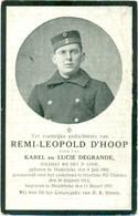 WO1 / WW1 - Doodsprentje Remi D'Hoop - Meulebeke / Overlaar (Tienen) - Gesneuvelde - Obituary Notices