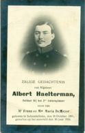 WO1 / WW1 - Doodsprentje Albert Haelterman - Schendelbeke /  - Gesneuvelde - Obituary Notices