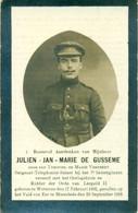 WO1 / WW1 - Doodsprentje Julien De Gusseme - Wetteren / Moorslede  - Gesneuvelde - Obituary Notices