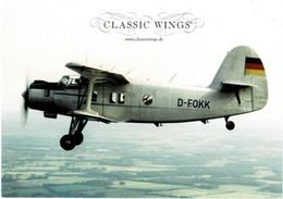 CLASSIC WINGS - Antonov AN-2 (Airline Issue) - 1946-....: Era Moderna