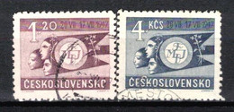 Tchécoslovaquie 1947 Mi 521-2 (Yv 449-50), Obliteré - Usados