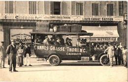 AUTOBUS CAISSON .CANES -GRASSE-THORENC. ORGANISE PAR AUTO GARAGE CAISSON. DEPART - Cannes