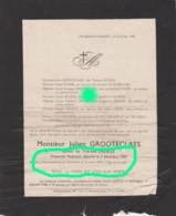 Guerre 40/45 Micheroux Hasard Julien Grooteclaes Deliège  Déporté Prisonnier Politique Dcd En 1945 à Mauthausen Autriche - Obituary Notices