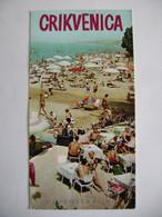 Croatia Crikvenica (Yugoslavia) - Advertising Leaflet 1964 In German Language - Map And Color Photos - Croatia
