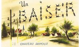 04  UN BAISER      DE    CHATEAU ARNOUX     CPM  TBE   1036 - Autres Communes
