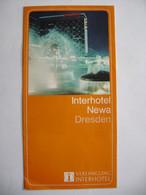 Dresden Saxony Advertising Leaflet 1973 Interhotel NEWA, Photos Interior - Dresden & Leipzig