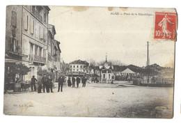 Alais, Place De La République. Cachet Du Grand Café Des Fleurs (Gabriel Viguier Propriétaire) - (12284) - Alès