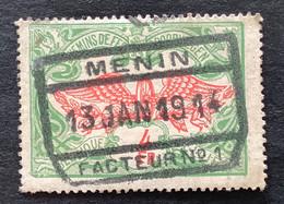 TR45 Gestempeld MENIN FACTEUR N°1 - 1895-1913