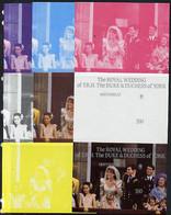 Montserrat 1986 Royal Wedding $4 M/sheet Set Of 8 Imperf Progressive Colour Proofs Comprising The 5 Individual Colours P - Montserrat