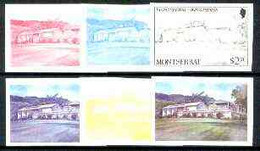 Montserrat 1986 Recording Studio $2.30 (from Tourism Set) Set Of 6 Imperf Progressive Proofs Comprising The 4 Individual - Montserrat