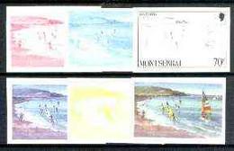 Montserrat 1986 Sailing & Windsurfing 70c (from Tourism Set) Set Of 6 Imperf Progressive Proofs Comprising The 4 Individ - Montserrat