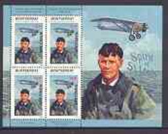 Montserrat 1998 Famous People Of The 20th Century - Charles Lindbergh (aviator) Perf Sheetlet 4 Vals Opt'd SPECIMEN, U/m - Montserrat