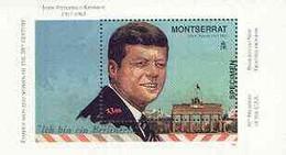 Montserrat 1998 Famous People Of The 20th Century - JF Kennedy Perf M/sheet Opt'd SPECIMEN, U/m SG MS 1085s - Montserrat