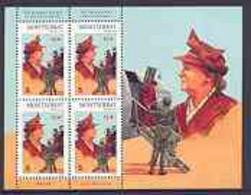 Montserrat 1998 Famous People Of The 20th Century - Queen Wilhelmina Of The Netherlands Perf Sheetlet 4 Vals Opt'd SPECI - Montserrat