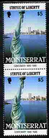 Montserrat 1986 Statue Of Liberty Centenary $5 Similar To M/sheet But From The Unique Multi-country Sheet Intended For A - Montserrat
