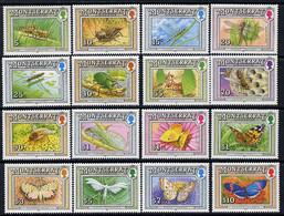 Montserrat 1992 Insects Definitive Set Complete - 16 Values U/m SG 889-904 - Montserrat