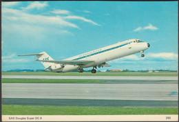 SAS Douglas Super DC-9, C.1970s - Charles Skilton Postcard - 1946-....: Era Moderna