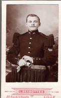 Photo Cartonné A Identifier Be - War, Military
