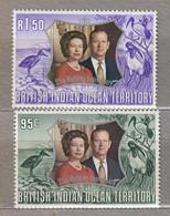 BRITISH INDIAN OCEAN TERRITORY 1972 Fauna Birds Royal Family MNH(**) Mi 48-49 #31286 - Ohne Zuordnung
