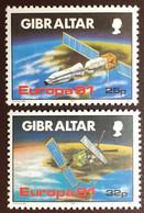 Gibraltar 1991 Europa Space MNH - Gibraltar