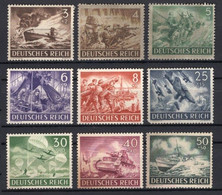 1943 REICH ARMED FORCES MEMORIAL DAY MICHEL: 831-835, 839-842 MINT WITHOUT GUM - Ungebraucht