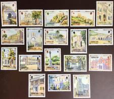 Gibraltar 1993-95 Architectural Heritage Definitives 18 Values To £2 MNH - Gibraltar