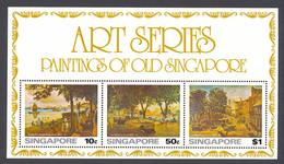 Singapore, 1976, Paintings, Art, Scenery, MNH, Michel Block 8 - Singapore (1959-...)