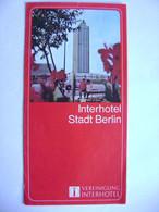 Germany DDR - Interhotel Stadt Berlin 1973 - Advertising Leaflet, Photos Interior - Berlin & Potsdam