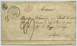 Type 14 LE FAOUET + Décime Rural + OR + Taxe 29 Décimes / Bande Pour Journaux Pour Alger. Algérie. - 1801-1848: Precursors XIX