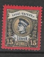 Privatpost Lübeck, Guter Wert Der Ausgabe Der Local-Verkehr-Gesellschaft Von 1888 - Private