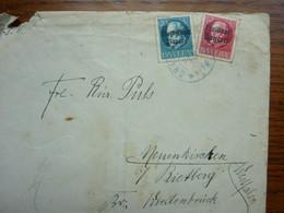 1921  Letter   2 Stamps - Briefe U. Dokumente