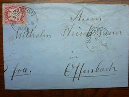 1870  Letter   PERFEKT SCHWEINFURT - Briefe U. Dokumente