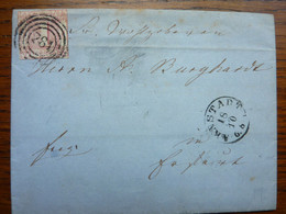 1864  Letter   PERFEKT ARNSTADT - Briefe U. Dokumente