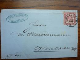 1868  Letter   PERFEKT MANNHEIM - Briefe U. Dokumente