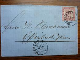1864  Letter   PERFEKT MANNHEIM - Briefe U. Dokumente
