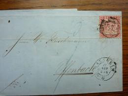 1862  Letter   PERFEKT MANNHEIM - Briefe U. Dokumente