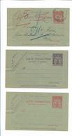 Y20125/ 3 X Carte Pneumatique Brief  Frankreich  - Non Classés